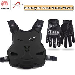 motorcycle jacket vest NZ - VEMAR Newest Motorcycle Armor Vest Motorcycle Riding Chest Armor Jacket Moto Motocross Off-Road Racing Vest + Motorcycle Gloves