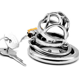 China 2019 Newest Chastity Lock Cage Stainless Steel Penis Rings with Reusable Anti-stripping Rings Sex Toys for Men G7-1-255E supplier anti sex belt suppliers