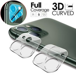 wholesale lens for iphone NZ - Camera Lens Protector For iPhone 11 Pro Max Full Cover 20D Tempered Glass Camera Lens Screen Protector