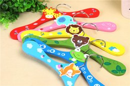 wood suit hangers Australia - Wood Children Hangers Cartoon Animal Wooden Racks for Pets Babies Infant Newborn Children Kids 28cm Clothing Shop Hangers