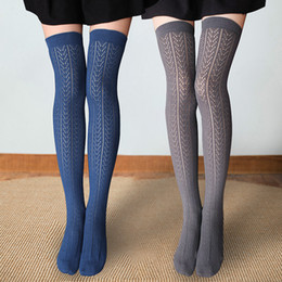 bbcbff44bcc Girls Cute Thigh High Long Socks Plus Size Women Sexy Stockings Cotton  Kawaii Woman Socks Over Knee Alanshow