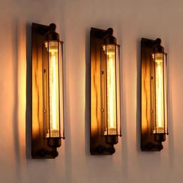 Glasses Vintage Australia - Vintage Loft Industrial Flute Wall Light Retro Designer Iron Glass Lamp For Decorative Corridor Parlor Bathroom Fixture Lighting