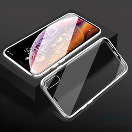 iphone 6s black gold Australia - Double Sided Glass Magnetic Phone Case For iPhone 6 6s 7 8 Plus X Xs Max XR Anti-scratch Drop-resistant Anti-skid Stable Shell Covers