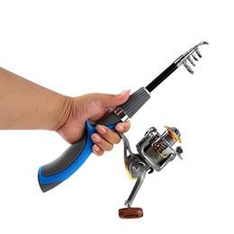 Pole For Fishing Australia - Fishing Reel Rod Super Short Pocket Retractable Folding Portable Poles for Saltwater