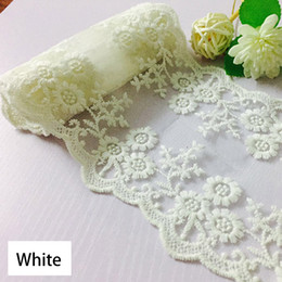 trims ribbons Australia - 15 Yards Lace Ribbon Cream Vintage Lace Trim 11cm Width White Sewing DIY Making and Bridal Wedding Party Christmas Decorations