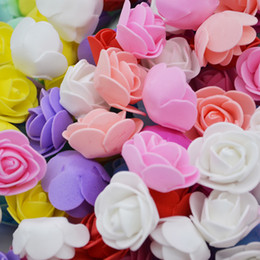 Foam Rose Heads White Australia - 3cm Mini Pe Foam Rose Artificial Flower Heads Home Decorative Wreaths Supplies Wedding Party Diy Crafts Decoration C19041701