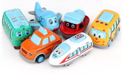 cartoon train cars NZ - Children's Pull Back Mini Cartoon Super Car Styling Alloy Diecast Vehicle Models Collection Set Kids Toys for Boys and Girls(6pcs set)
