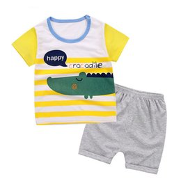 Wholesale good quality children boys clothes sets infant bebe short sleeve T shirt shorts baby boy clothes summer sports suits year
