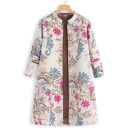$enCountryForm.capitalKeyWord Australia - Vintage Causal Coats Women Fleece Jackets Plus Size Female Long Sleeve Parka Button Outerwear Oversized Windbreaker Femme 5XL