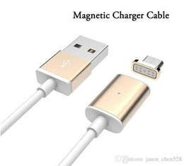 Charging Cable magnet online shopping - Magnetic A Micro USB Charger Cable Adapter For Samsung LG HTC Magnet Quick Charging with retail box