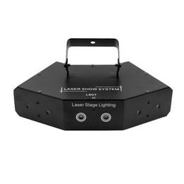 Venta al por mayor de 6 lentes DMX 512 RGB Escaneo a todo color Etapa Luz láser Seis ojos Haz 16 patrones Luz láser Fiesta en casa DJ Disco Proyector de iluminación láser