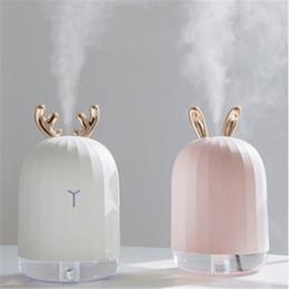 220ML Ultrasónico Humidificador de aire Aroma Difusor de aceite esencial para el hogar Coche USB Fogger Mist Maker con lámpara de noche LED