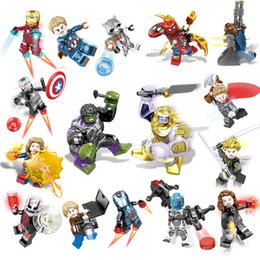 $enCountryForm.capitalKeyWord Australia - Avengers Super Hero Building Block War Machine Iron Man Thor Thanos Hulk Nebula Ant Man Marvel Captain Spider Man Mini Toy Figure