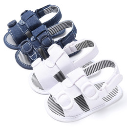 $enCountryForm.capitalKeyWord Australia - 2019 New Summer Baby Shoes Girls Sandals Non-slip Baby Toddler Canvas Boys Cute Crib Shoes T-tied Soft Prewalker Soft Sole