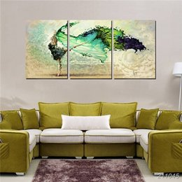 $enCountryForm.capitalKeyWord UK - 3 Piece Wall Painting Abstract Swan Dancing Girl Canvas Print Color Wall Art Hd Pictures Set For Home House Hall Decor No Frame