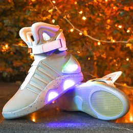 Hot Bar Australia - 2019 HOT LED Luminous Shoes Future Fighters High USB Charging Casual Lamp Shoes Bar Party Men's Shoes 39-46