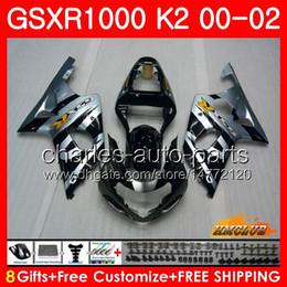 $enCountryForm.capitalKeyWord NZ - Frame For SUZUKI GSXR 1000 K2 GSXR1000 2000 2001 2002 Body silvery black 14HC.98 GSX R1000 00 02 GSXR-1000 GSX-R1000 00 01 02 Fairings kit