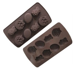 chocolate easter cakes UK - Easter Silicone Candy Molds Fondant Mold Cake Decorating Tools Easter Egg Rabbit Mold Chocolate Gumpaste Molds Festivel Supplies