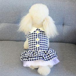 Wholesale new summer stylish dresses resale online – Summer Stylish Pet Lovely Dresses Fashion Breathable Designer Pets Skirts Trendy Personality Charm Bichion Dress Apparel