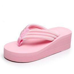 $enCountryForm.capitalKeyWord Australia - Summer Shoes Women High Heels Platform Beach Slippers Slip on Flip Flops Ladies Wedges Bohemia Soft Slippers Mujer