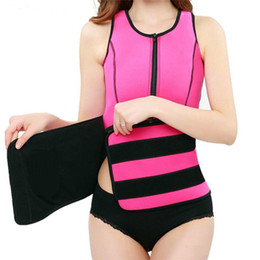 739d9364199 Neoprene Sauna Waist Trainer Vest Hot Shaper Workout Shapewear Slimming  Adjustable Sweat Belt Body Shaper Free Shipping
