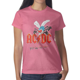 $enCountryForm.capitalKeyWord Australia - ACDC Fly On The Wall Mosquito pink womens t shirt,shirts,t shirts,tee shirts printing graphic superhero friends athletic t shirt