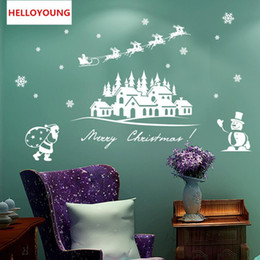 $enCountryForm.capitalKeyWord UK - Creative personality Christmas snowman Wall Stickers Home Decorative Waterproof Wallpapers
