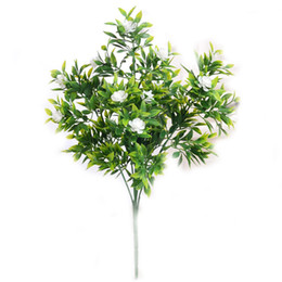 indoor green artificial plants Australia - Single Artificial Flower Green Plastic Camellia Fake Plants Wedding Bridal Bouquet Party Indoor Outdoor Diy Home Garden Verandah