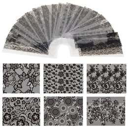 $enCountryForm.capitalKeyWord NZ - Hot Sale 20 Sheets Lot 20*4cm Nail Art Transfer Foil Floral Serial Sexy Black Lace Pattern Nail Sticker Foil Material DIY WY188
