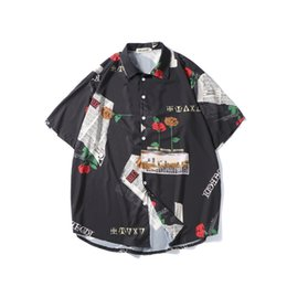 $enCountryForm.capitalKeyWord Australia - Men Printing Shirts Men Fashion Design Hip Hop Streetwear Shorts Sleeve Shirts Korean Style Punk Rave Designer Casual
