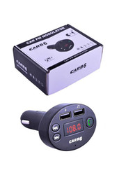 Discount mini music box mp3 player - CAR B6 Wireless FM Transmitter Modulator Bluetooth Car Kit Charger AUX Hands Free Music Mini MP3 Player Car Charge With