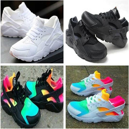 Ingrosso 2018 Air Huarache Ultra Running Shoes For Men Donna Big kids Nero Bianco Air Huaraches Huraches Sneakers sportive Athletic Trainers 350