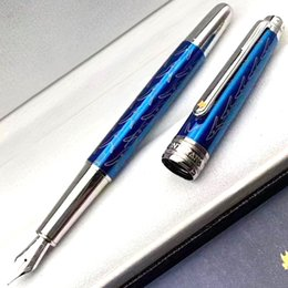 new styles pens NZ - PM New Styles Luxury Special Edition Little Prince With Serial Number Blue Carving classic M4810 Nib Fountain Pen+Gift Ink+Gift Plush Pouch