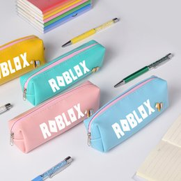 $enCountryForm.capitalKeyWord NZ - Roblox Pencil Case Game Around Candy Color PU Pencil Case Student Cute Stationery Bag Gift for Kids