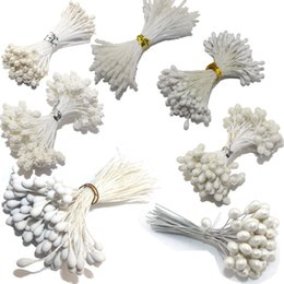 White Rose Crafts Australia - Artificial & Dried Flowers CCINEE White Color Flower Rose Stamen 1 3mm 5mm For Cake Decoration Crafts Nylon Flower DIY Gift Accessories