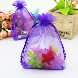 necklace storage pouches NZ - 100pcs 13x18cm Cheap Organza Drawstring Bag Deep Purple Jewelry Bracelet Necklace Candy Bead Gift Packaging Storage Bags Pouches
