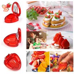 Discount kitchen fruit vegetable carving - hot Strawberry Slicer Fruit Vegetable Tools Carving Cake Decorative Cutter Kitchen Gadgets Accessories Fruit Carving Kni