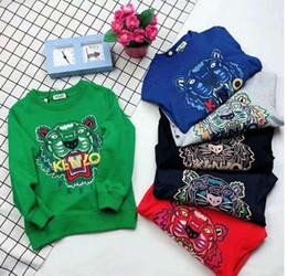 2019 novo Outono Crianças Vestuário Camisola Solta Casaco Homens E Mulheres Crianças Bebê Manga Longa Renderização Unlined cores roupas de inverno em Promoção