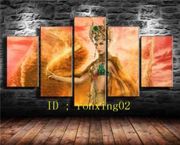 Egypt Figures Australia - Hathor Gods of Egypt 5 Pieces Home Decor HD Printed Modern Art Painting on Canvas (Unframed Framed)