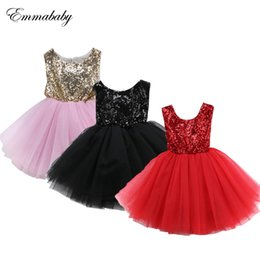 Kids Backless Clothes Australia - 2019 New Girls Pink Red Black Kids Dresses For Girls Party Dress Bridesmaid Dresses Sleeveless Backless Ball Gown Clothes