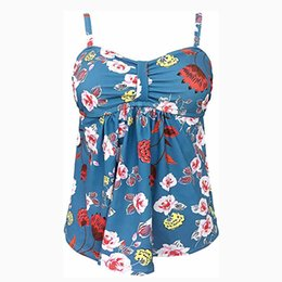 floral tankini top Australia - SAGACE 1PC Swimdress Plus Size Tankini Swimsuits Floral print Swimwear Women Ladies Push Up With Shorts Sport Top