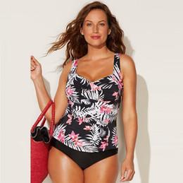 Plus Size Swimdress Swimsuit Woman Australia - 1 Set Plus Size L-4xl Swimwear Women Floral Halter Tankini Print Maillot De Bain Sexy Summer Beach Swimsuit Large Sizes Push Up Y19052002