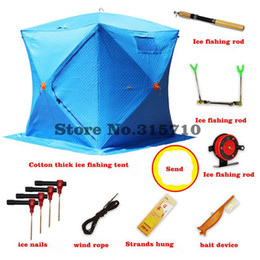 $enCountryForm.capitalKeyWord Australia - Ice fishing house equipped with cotton winter fishing tent warm cold anti-wind keep body warm with cotton send ice set