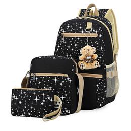 $enCountryForm.capitalKeyWord Australia - 3pcs set School Bags For Girls School Bags Star Printing Backpack Schoolbag Big Capacity Travel Bag Cute Kids Bag Rucksacks