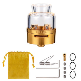 Chinese  WOLFTEETH 510 RDA Clone Rebuildable Dripping Vape E-cig Atomizer Dual Coil US1 24mm   High Borosilicate Glass Temperature Resistant 1237 manufacturers