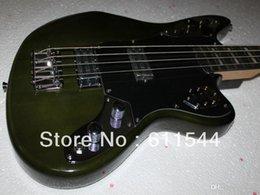 electric jaguar 2019 - Bass Guitar New Arrival 4 Strings Jaguar Electric Bass Green Top Musical instruments HOT discount electric jaguar
