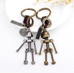 Wholesale European and American fashionable car key ring alloy ancient bronze accessories key ring small commodity