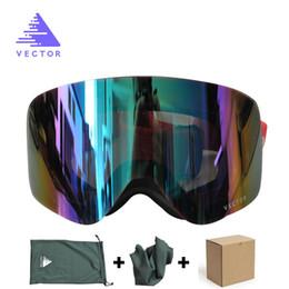 $enCountryForm.capitalKeyWord Australia - VECTOR Brand Ski Goggles Women Men Double Lens UV400 Anti-fog Adult Skiing Snowboard Goggles Skiing Eyewear Snow Glasses