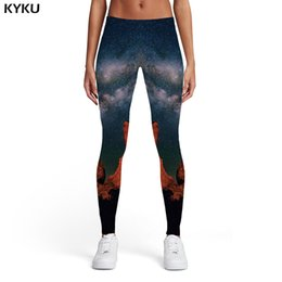 Xl Womens Leggings Australia - KYKU Brand Galaxy Leggings Women Space Sport Mountain 3d Print Cloud Elastic Leggins Womens Leggings Pants Fitness Fashion