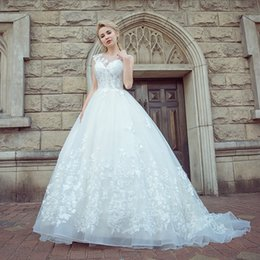 Wedding Dress Made Yarn Australia - Backless Lace Wedding Dresses Shoulder Collar Word small Tail In Are High Quality Yarn Eugen Halter White Beach Wedding Dresses DH104
